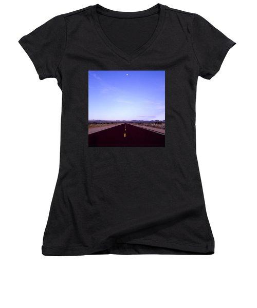 Escapism Women's V-Neck T-Shirt (Junior Cut) by Shaun Higson