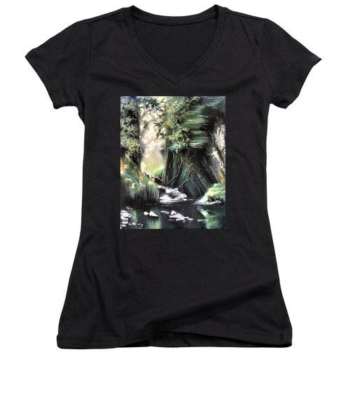 Fairy Glen Women's V-Neck T-Shirt