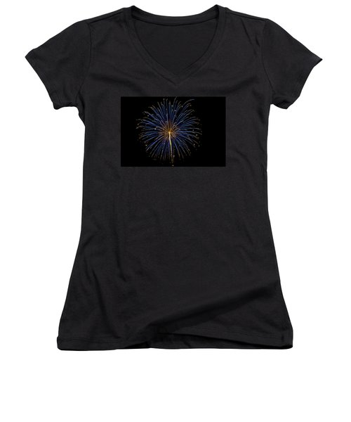 Fireworks Bursts Colors And Shapes Women's V-Neck (Athletic Fit)