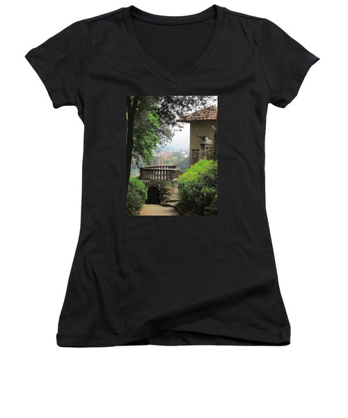 Garden View Women's V-Neck T-Shirt (Junior Cut)
