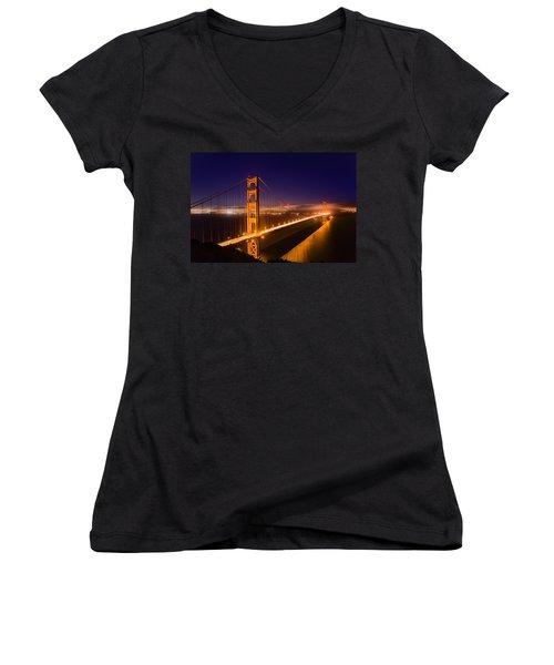 Golden Gate Women's V-Neck T-Shirt