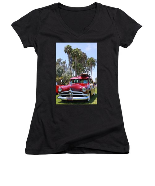 Women's V-Neck T-Shirt (Junior Cut) featuring the photograph Got Wood? by Shoal Hollingsworth