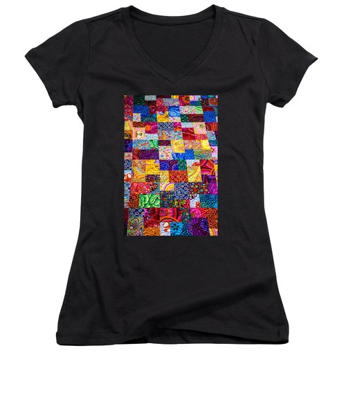 Hand Made Quilt Women's V-Neck T-Shirt