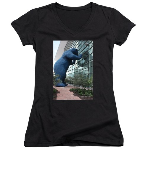 I See What You Mean Women's V-Neck T-Shirt (Junior Cut) by David Bearden