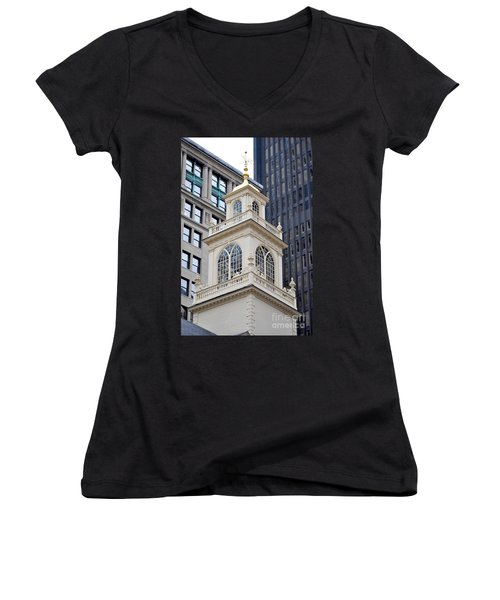 Old State House Boston Ma Women's V-Neck (Athletic Fit)