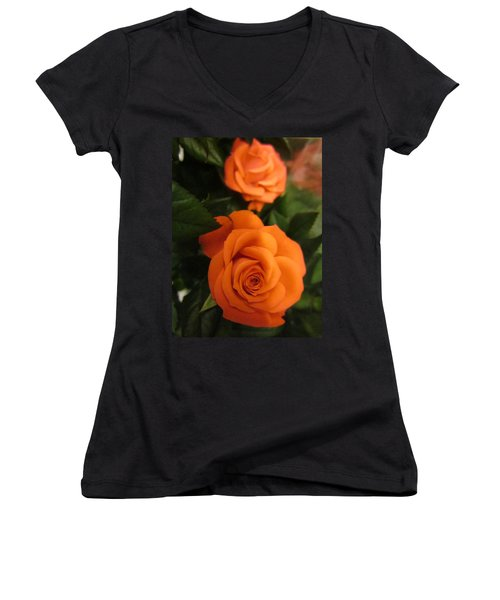 Orange Delight Women's V-Neck