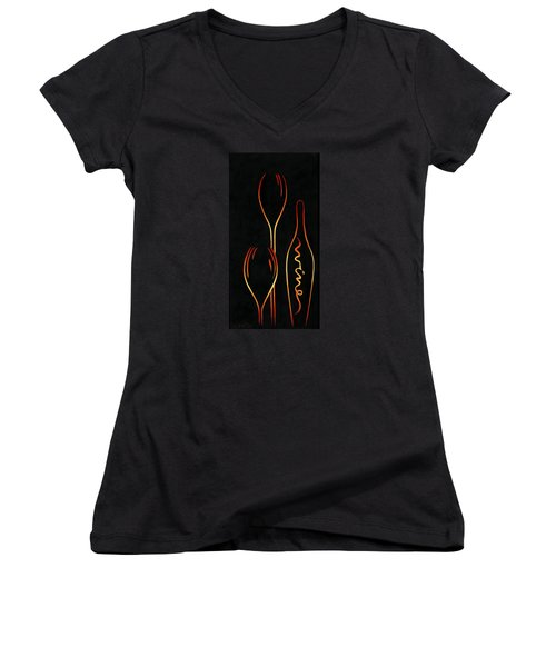 Simply Wine Women's V-Neck T-Shirt