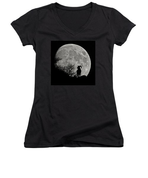 The Big Horn Women's V-Neck T-Shirt