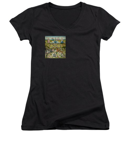 The Garden Of Earthly Delights Women's V-Neck T-Shirt