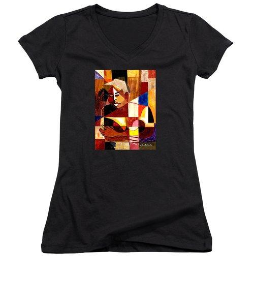 The Matriarch - Take 2 Women's V-Neck T-Shirt (Junior Cut) by Everett Spruill