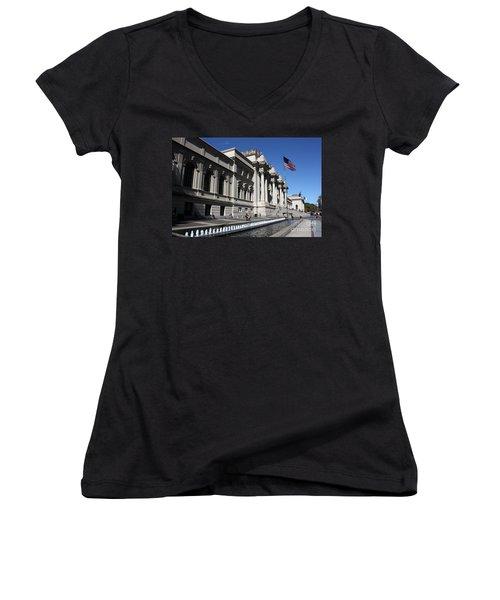 The Met Women's V-Neck T-Shirt (Junior Cut) by David Bearden