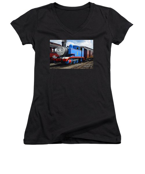 Thomas The Engine Women's V-Neck (Athletic Fit)