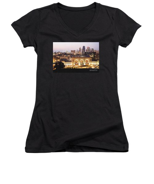 Union Station Evening Women's V-Neck (Athletic Fit)