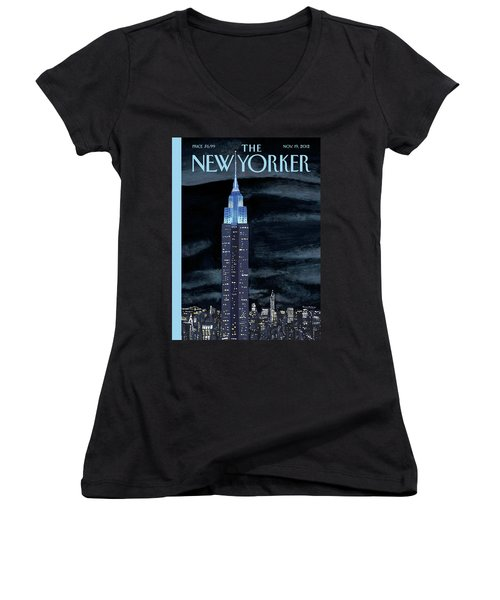 New Yorker November 19th, 2012 Women's V-Neck T-Shirt