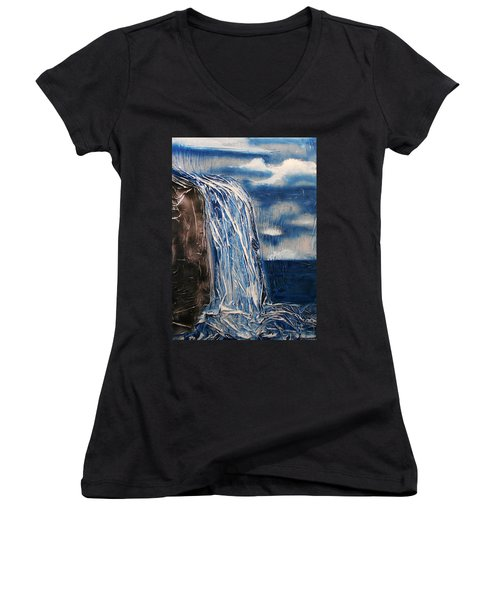 Waterfall Women's V-Neck (Athletic Fit)