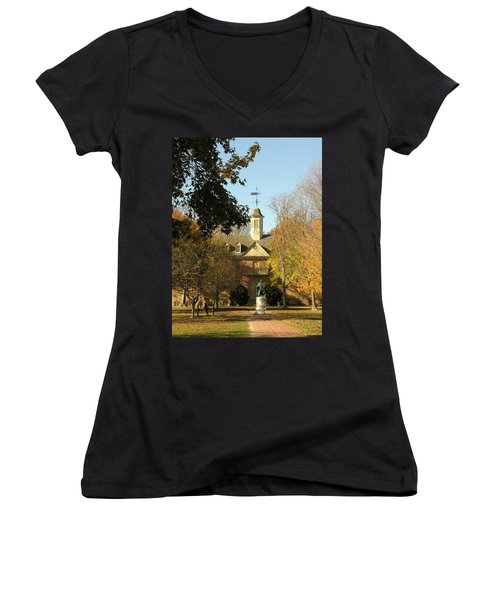 William And Mary College Women's V-Neck T-Shirt