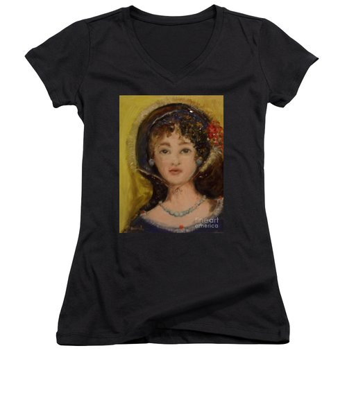 Yesterday Women's V-Neck T-Shirt (Junior Cut)