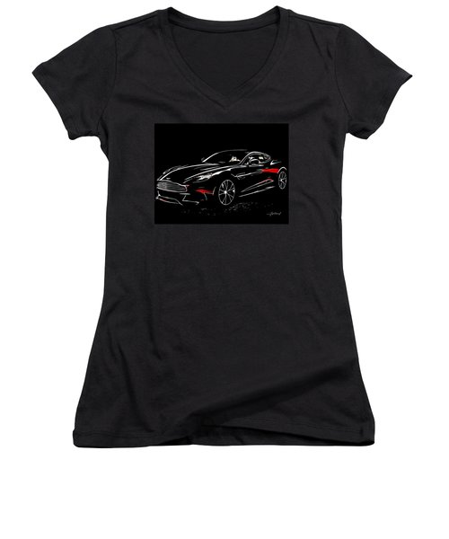 2013 Aston Martin Vanquish Women's V-Neck (Athletic Fit)