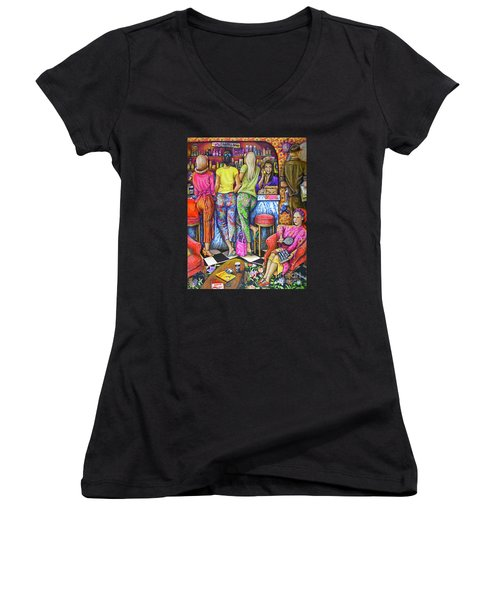 Shop Talk Women's V-Neck T-Shirt