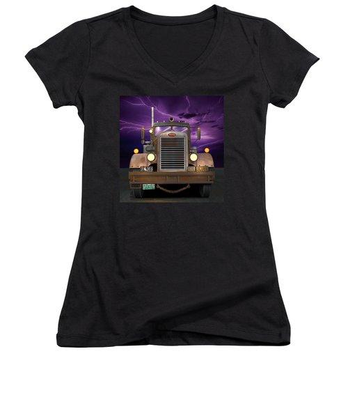 1955 Peterbilt Women's V-Neck T-Shirt