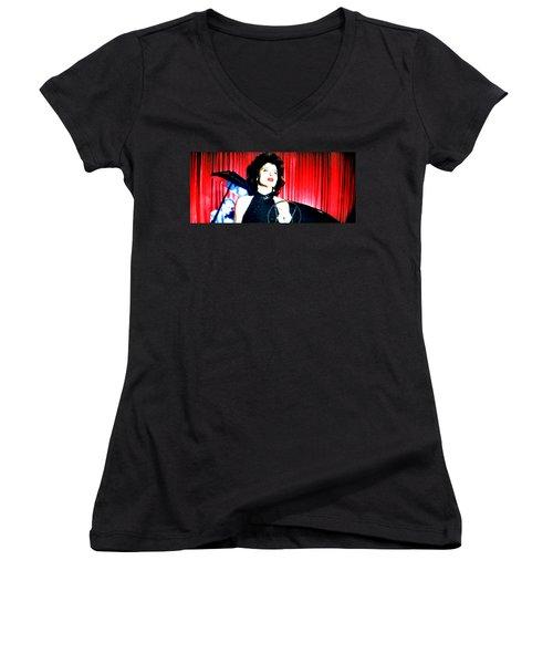 Blue Velvet Women's V-Neck T-Shirt