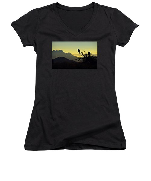 By Dawn's Early Light  Women's V-Neck (Athletic Fit)