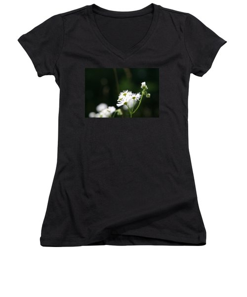 Women's V-Neck T-Shirt (Junior Cut) featuring the photograph Enlightened  by Neal Eslinger