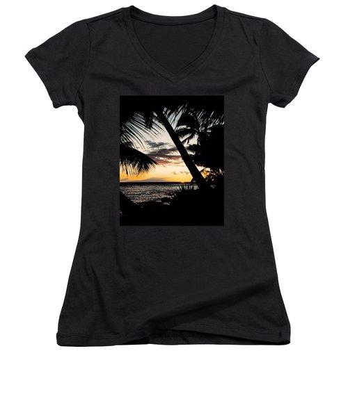 Maui Sunset Women's V-Neck T-Shirt