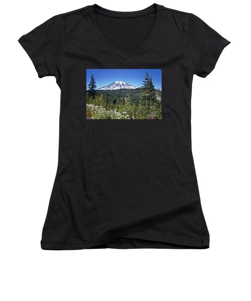 Mount Ranier Women's V-Neck (Athletic Fit)
