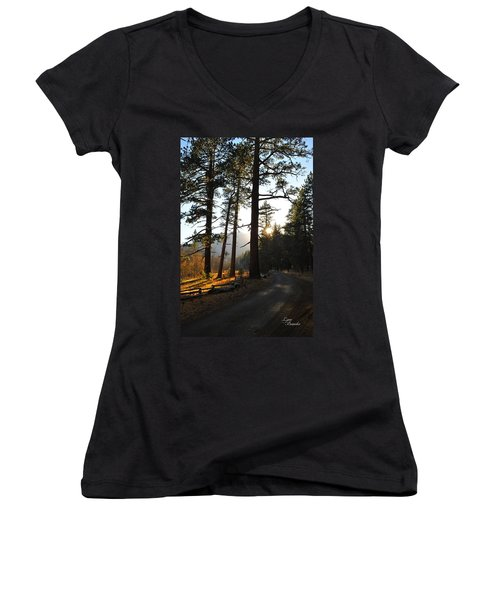Mountain Road Women's V-Neck (Athletic Fit)