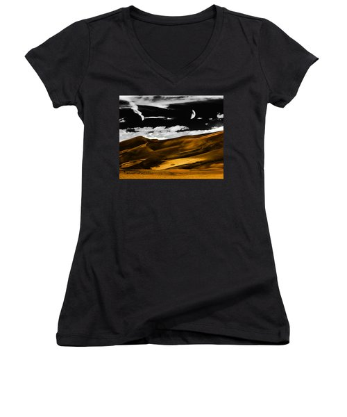 Night At The Great Sand Dunes Women's V-Neck (Athletic Fit)