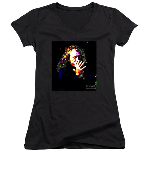 Robert Plant Women's V-Neck T-Shirt