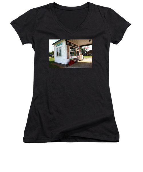 Route 66 Filling Station Women's V-Neck (Athletic Fit)