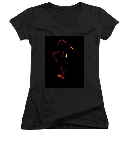Sax In The Dark Women's V-Neck T-Shirt