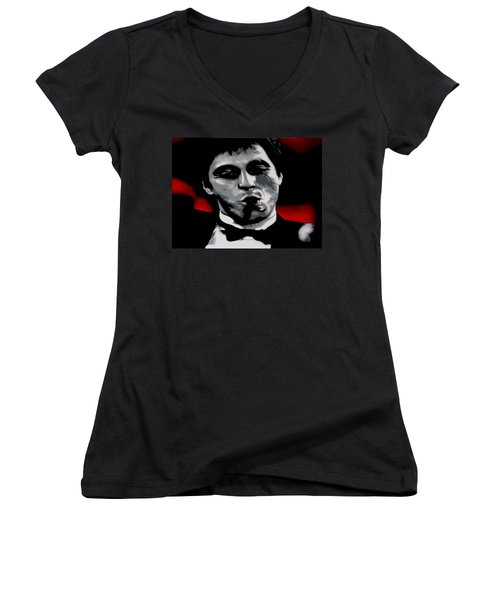 Scarface 2013 Women's V-Neck T-Shirt