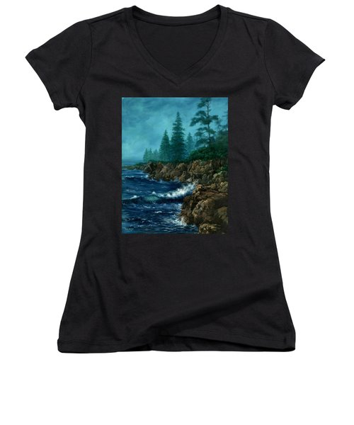 Solitude Women's V-Neck T-Shirt (Junior Cut)