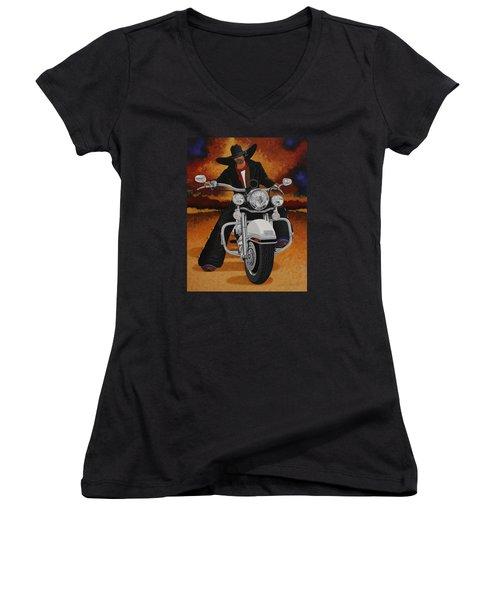 Steel Pony Women's V-Neck T-Shirt