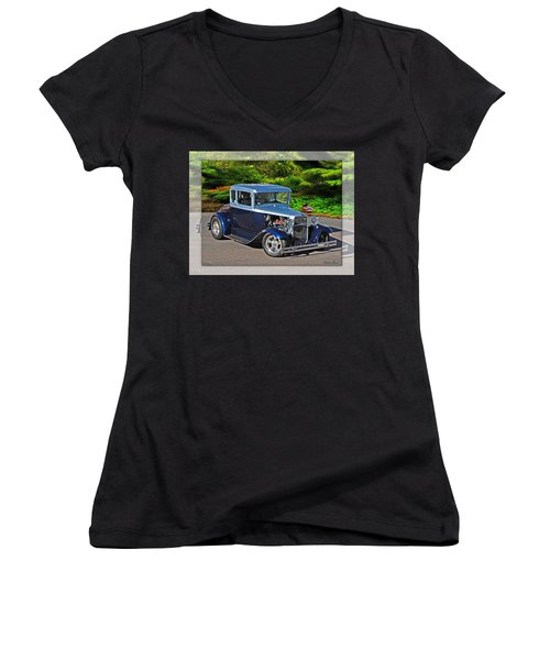 32 Ford Women's V-Neck T-Shirt (Junior Cut)