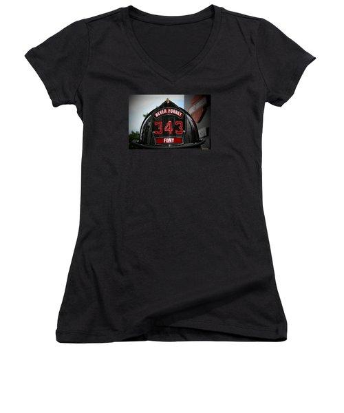 343 Women's V-Neck T-Shirt (Junior Cut) by Susan  McMenamin