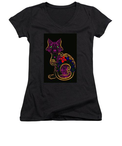 Cat Series 02 Women's V-Neck