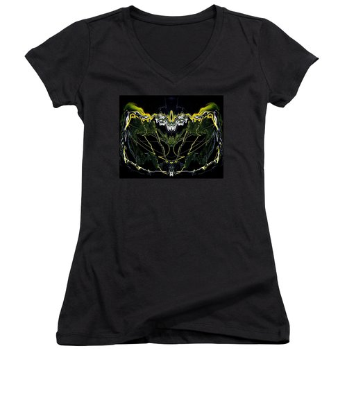 Abstract 42 Women's V-Neck (Athletic Fit)