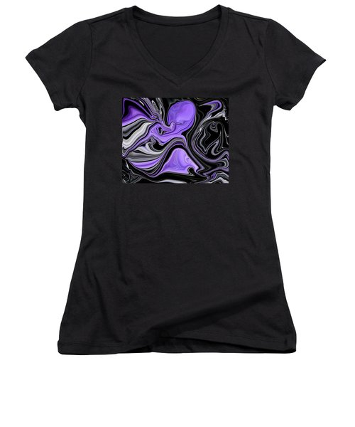Abstract 57 Women's V-Neck (Athletic Fit)