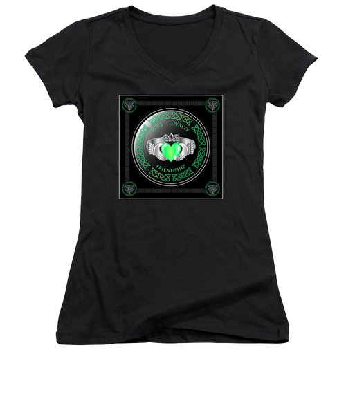 Claddagh Ring Women's V-Neck (Athletic Fit)