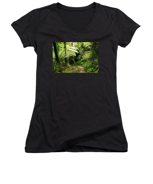 Forest Women's V-Neck T-Shirt (Junior Cut) by Les Cunliffe