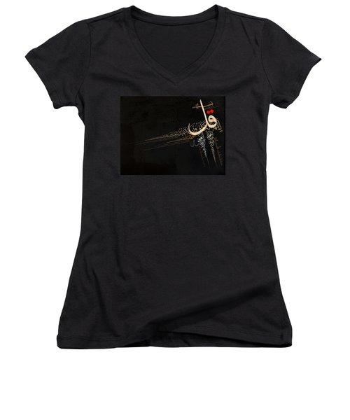 4 Qul Women's V-Neck T-Shirt