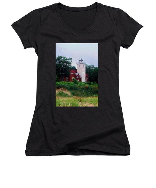 40 Mile Light Women's V-Neck T-Shirt (Junior Cut) by Daniel Thompson