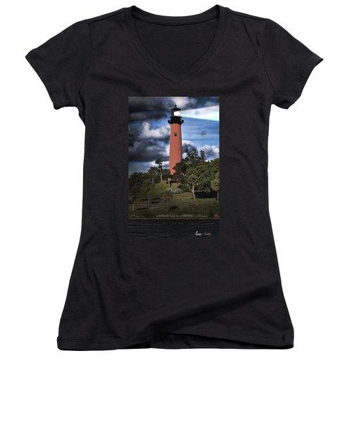 Jupiter Lighthouse Women's V-Neck