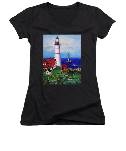 Lighthouse Hill Women's V-Neck T-Shirt