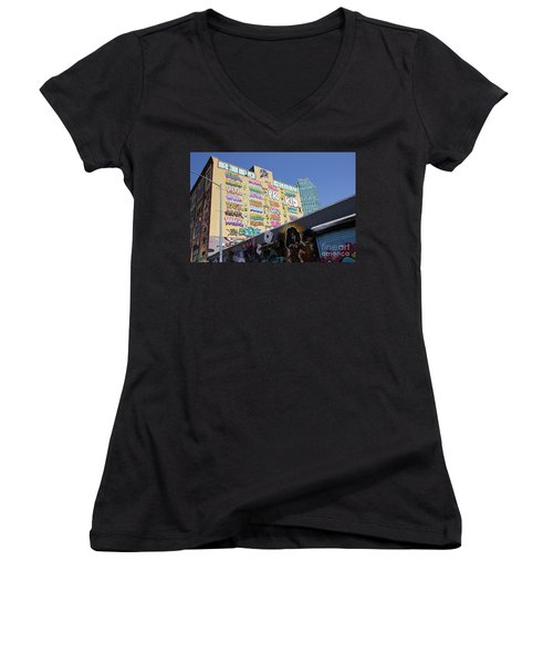 5 Pointz Graffiti Art 2 Women's V-Neck T-Shirt (Junior Cut)