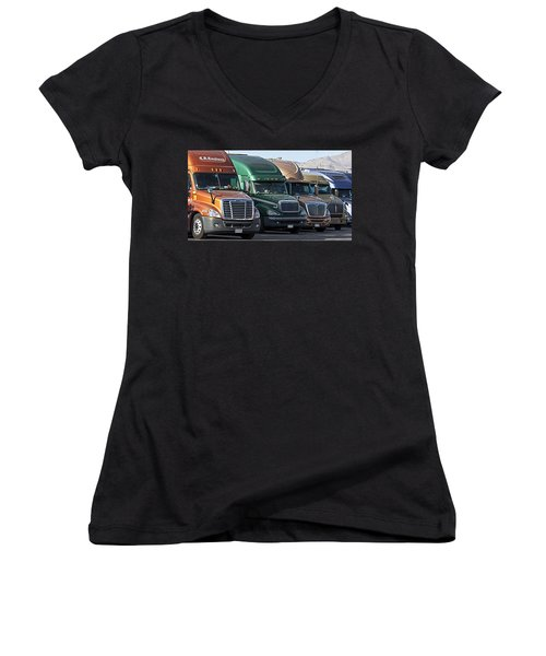 Semi Truck Fleet Women's V-Neck